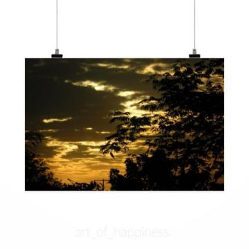 Stunning Poster Wall Art Decor Eventide Sunset Backcountry Clouds 36x24 Inches