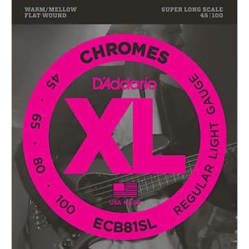 D'addario ECB81SL CHROMES FLATWOUND BASS STRINGS, SUPER LONG SCALE- 45-100