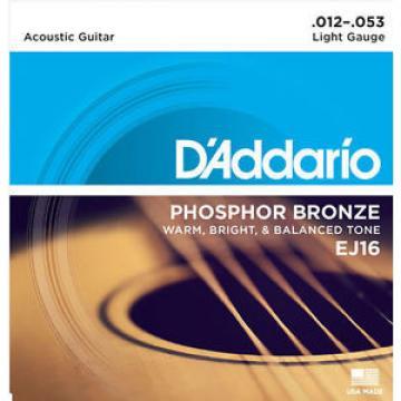 D'Addario Phosphor Bronze Light Acoustic 12-53