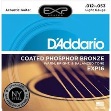 D'Addario EXP16 Coated Phosphor Bronze, Light, 12-53