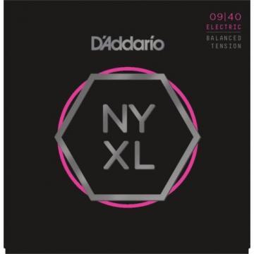 D'Addario NYXL 0940BT Strings Super Light Balanced Tension NYXL0940BT 9-40
