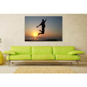 Stunning Poster Wall Art Decor Sol Beach Sky Sunset Eventide 36x24 Inches