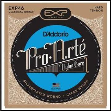 D'Addario EXP46 Coated Long Lasting Classical Guitar Strings, Hard Tension
