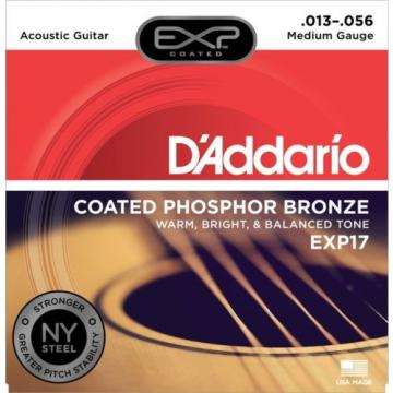 D'Addario EXP17 Coated Phosphor Bronze Medium Acou