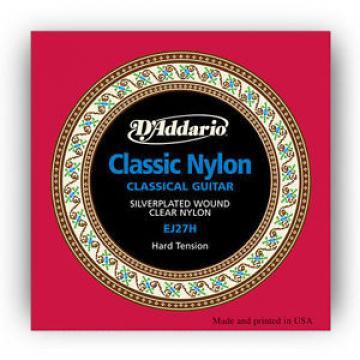 D'Addario EJ27H Classical Guitar Nylon String Hard Tension