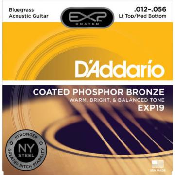 5 Sets D'Addario EXP19 Coated Phosphor Bronze Light Top Medium Bottom 12-56