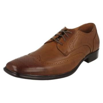 MENS MARK NASON FOR SKECHERS COGNAC LEATHER LACE UP SHOE STYLE - EVENTIDE