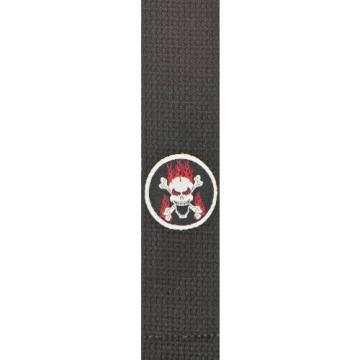 Planet Waves Patch Guitar Strap  Flaming Skull