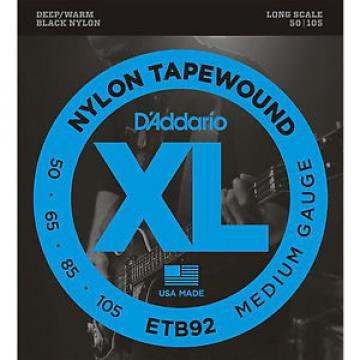 D'Addario ETB92 Nylon Tapewound Bass Guitar Strings 50-105 medium gauge