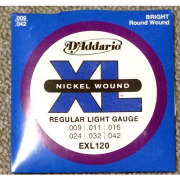 D'Addario guitar strings Nickel Wound, Super Light Gauge, EXL120