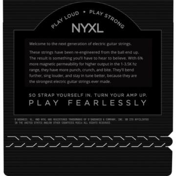 D'Addario NYXL 1152 Guitar Strings Medium Top Heavy Bottom 11-52 NYXL1152
