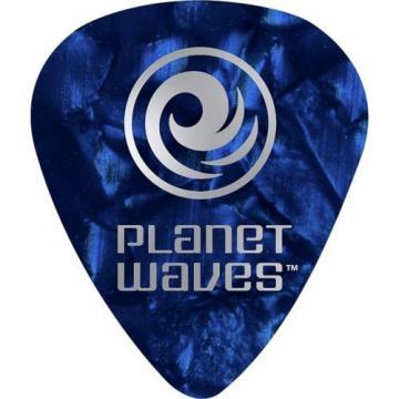 D'Addario Planet Waves 10 Standard Celluloid Picks Light Green Pearl