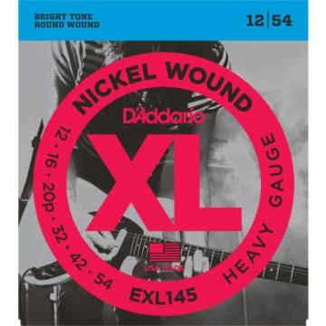 5 Sets D'Addario EXL145 Electric Guitar Strings Heavy Gauge 12-54