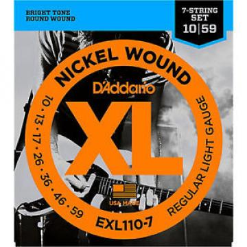 D'Addario EXL110-7 Electric Guitar Strings 7-string set gauges 10-59