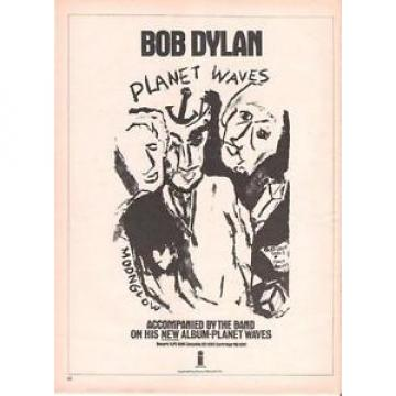 BOB DYLAN Planet Waves 1974 UK magazine ADVERT / Poster 11x8 inches