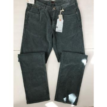 $128 Tommy Bahama Grey Corduroy Jeans Pants Vintage Straight Fit Eventide 34x32