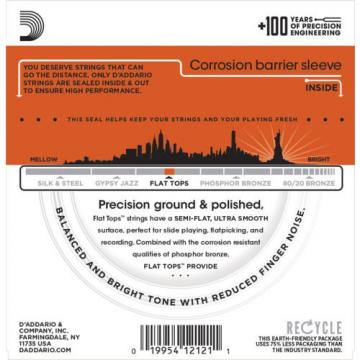 5 sets D'Addario Flat Tops EFT13 Resophonic Acoustic Strings