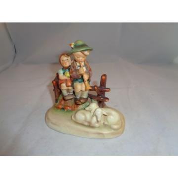 "HUMMEL #99 EVENTIDE 5 1/2"" FIGURINE CHILDREN SHEEP GOEBEL GERMANY TMK-2 FULL BEE"