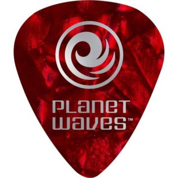 D'Addario Planet Waves 10 Standard Celluloid Picks Medium Green Pearl