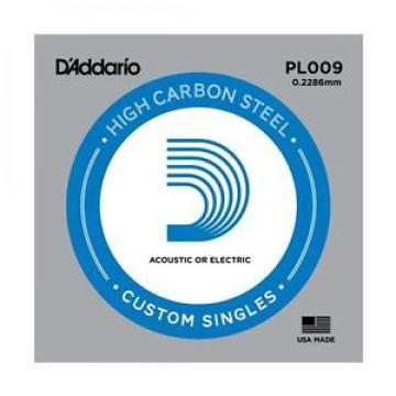 D'Addario Single Plain Steel .009 String