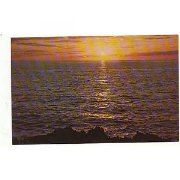 Vintage unused Postcard of Cornwall, Golden Waters at Eventide