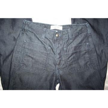 Habitual Denim High Rise Flared Coated Jeans in Eventide Wash Sz 26