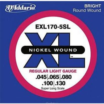 D'ADDARIO EXL170-5SL Nickel Wound Bass Light 45-130 Super Long Scale