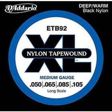 D'ADDARIO ETB92 BLACK NYLON TAPE WOUND 50-105