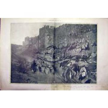 Antique Print Biblical Scene Holy Jerusalem Eventide Religious 1911 41TMBB0