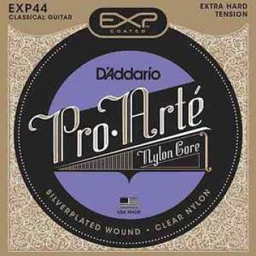 D'Addario EXP44, Extra-Hard Tension, Clear Nylon/Coated Silverplated