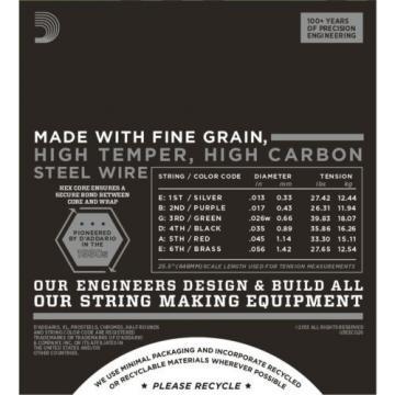 D'Addario Guitar Strings  3 pack   ECG26  Chromes  Medium
