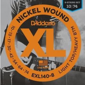 D'Addario EXL120-8 Nickel 8-String Electric Guitar Strings Regular Light 10-74