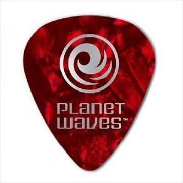 D'Addario - Planet Waves Guitar Picks  25 Pack  Celluloid Red Pearl  Medium