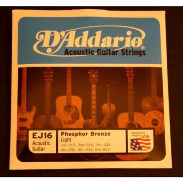 D'Addario Phosphor Bronze Acoustic Light Guitar Strings
