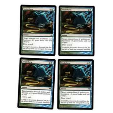 4x Snakeform EX Eventide Mtg Magic Commander EDH 4x x4
