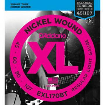 D'Addario Regular Light Balanced Tension Bass Strings 45-107 EXL170BT