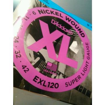 (10) Sets Daddario EXL120 Nickel Wound, Super Light 9-42 *NEW