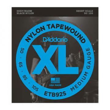 Daddario ETB92S XL Nylon Tapewound | Medium | Short Scale | E-Bass-Saiten | NEU