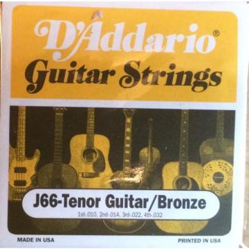D'Addario J66 Tenor Guitar / Bronze Tenor Guitar Strings  010 - 032