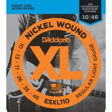 5 sets D'Addario ESXL110 Double Ball End Electric Guitar Strings