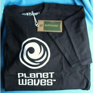 Planet Waves Trademark Tee Shirt, Black, XL, 100% Recycled Material, USA Made