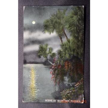 c.1914 Postcard Scene at Even-Tide in Florida - Posted