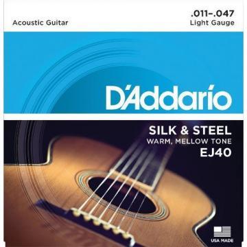 D'Addario EJ40 Silk & Steel Folk Guitar Strings 11-47 New /