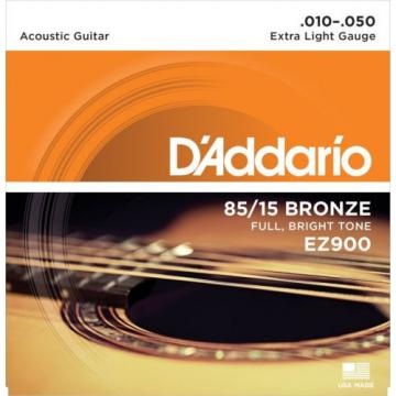 D'Addario Acoustic Guitar Strings 85/15 American Bronze Extra Light .EZ900