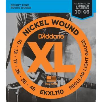 DAddario EKXL110 Nickel Wound Electric Guitar Strings, Regular Light, Reinforced