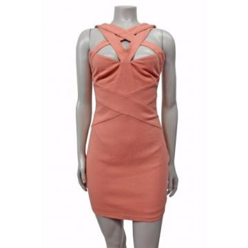 NWT Finders keepers Planet waves bodycon dress papaya cutouts size S