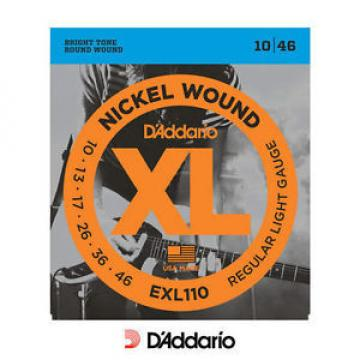 D'addario EXL110 Regular Electric 10-46 Guitar Strings Set Nickle Wound