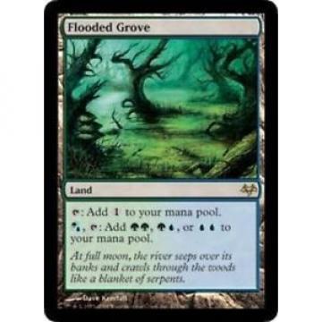 Flooded Grove - LP - Eventide MTG Magic Cards Land Rare