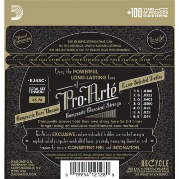 D'Addario Guitar Strings  Classical  3 Pack  EJ45C Pro-Arte Composites Normal