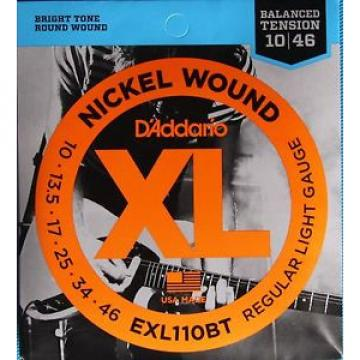 D'Addario  EXL110BT Balanced Tension Electric Guitar Strings, Regular Light Ga.
